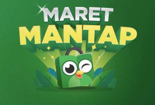 Promo Maret Mantap: Cashback s/d 1 Juta | Free Ongkir 5X | Tap Tap Mantap 15 Miliar