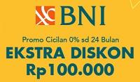 tambahan diskon Rp100.000 dengan kartu kredit BNI