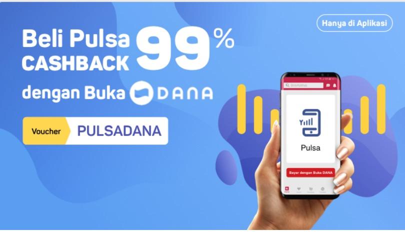 [Hanya di App] Belanja Pulsa Tanpa Ragu Cashback 99%