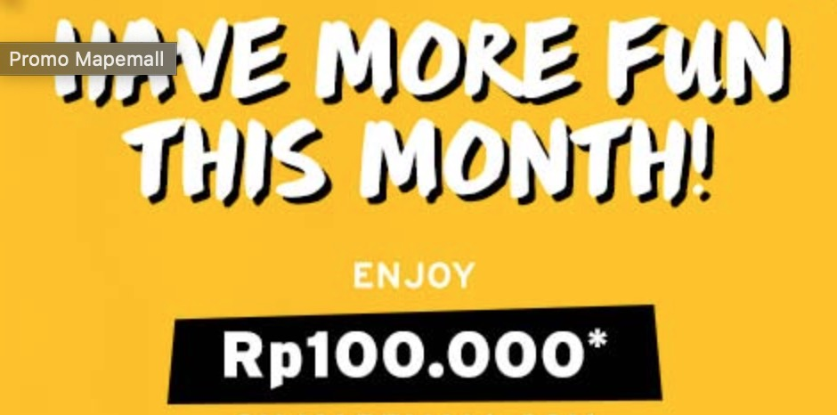 Promo Mapemall Rp 100.000
