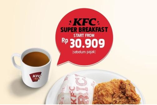 KFC Promo - Menu Hemat Super Breakfast!