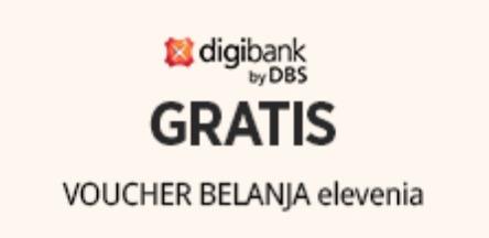 Voucher Belanja Elevenia 400 Ribu dari DBS