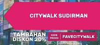 Citiwalk Sudirman 20% off