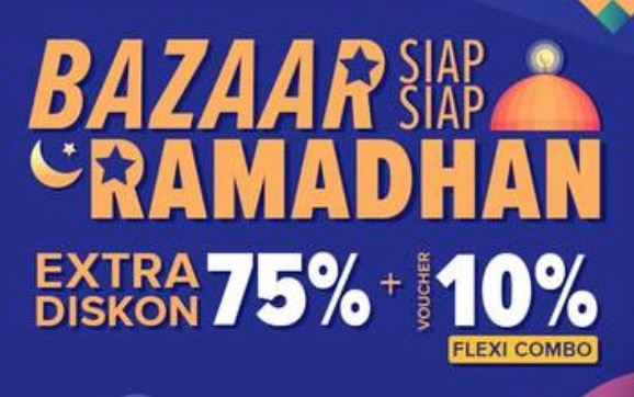 Diskon hingga 75% + Voucher UP TO 10%!