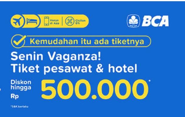 Promo Tiket Pesawat & Hotel Rp 500.000