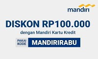diskon Rp100.000 Mandiri Kartu Kredit