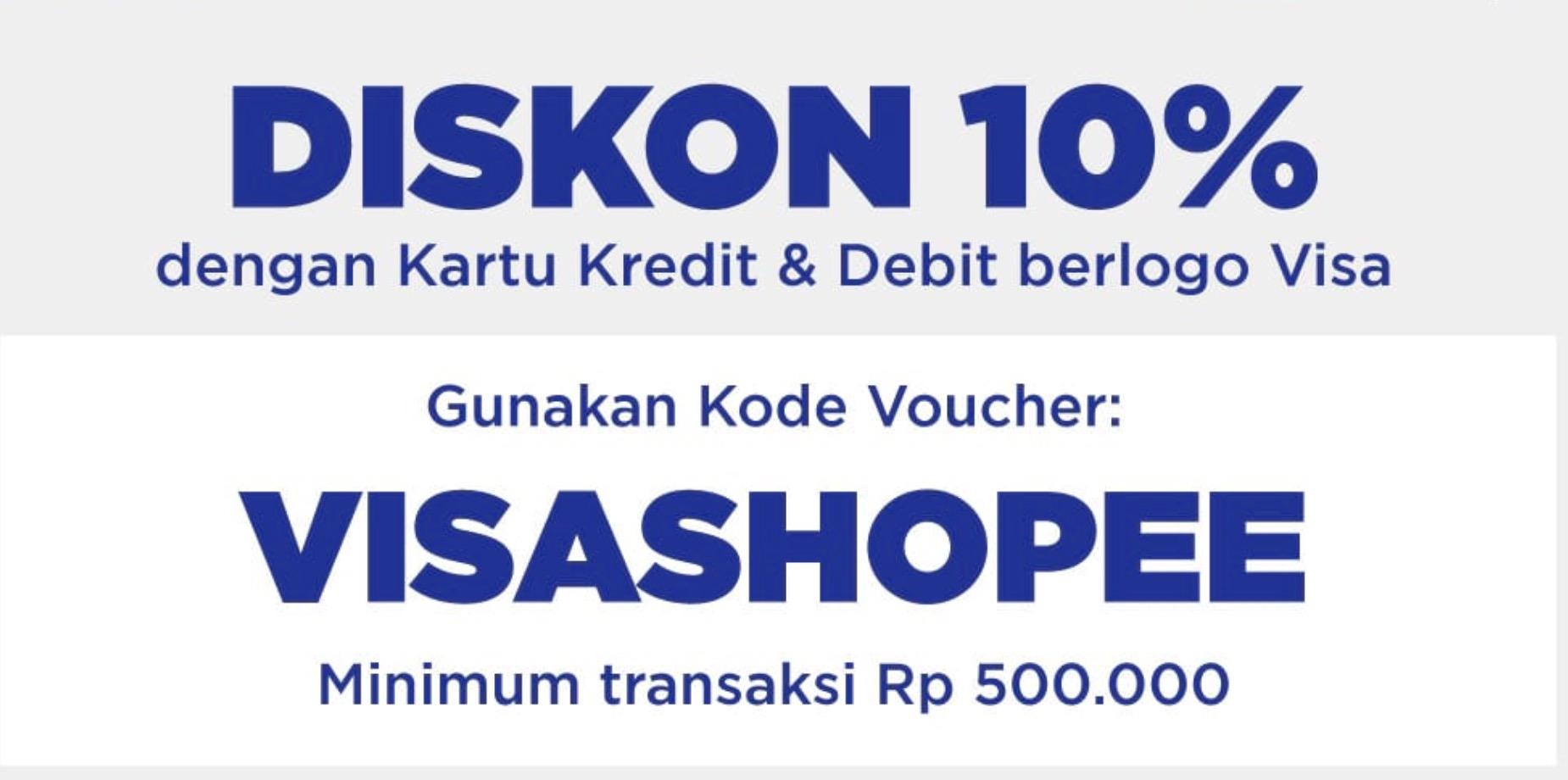 diskon Rp 500.000 VISA Shopee