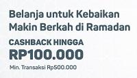 cashback Rp100rb selama bulan Ramadhan
