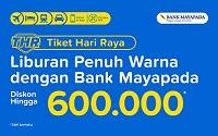 diskon tiket kereta api dari Bank Mayapada