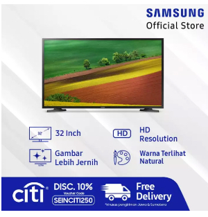 "Samsung HD Smart TV 32"" N4300"