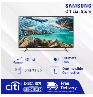 "Samsung UHD 4K Smart TV 43"" RU7100"