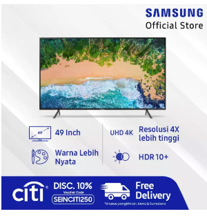 "Samsung UHD 4K Smart TV 49"" NU7100"