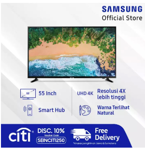 "Samsung UHD 4K Smart TV 55"" NU7090"