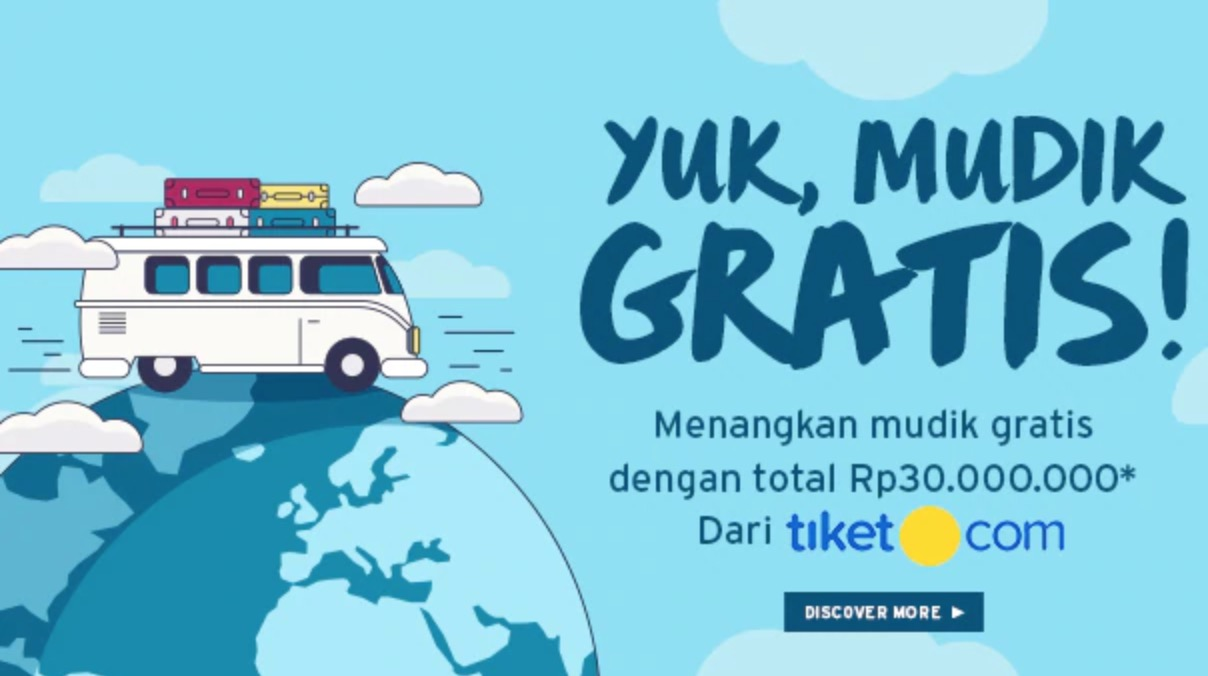 Voucher Tiket.com senilai Rp 3.000.000