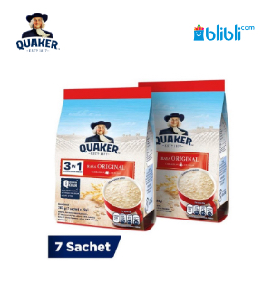 Quaker 3In1 Original Polybag 7s Twinpack