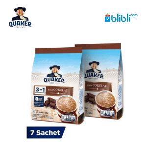 Quaker 3In1 Cokelat Polybag 7s Twinpack