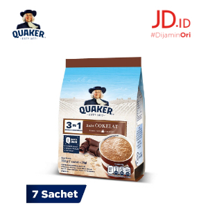Quaker 3In1 Coklat Polybag 7s Twinpack