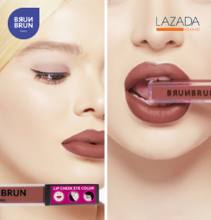 Brunbrun Lip Cheek Eye Exposed