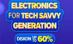 Diskon Elektronik Hingga 60%