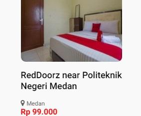 Reddoorz Medan Mulai 99.000
