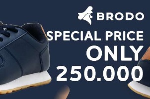 Harga Spesial Sepatu Brodo Mulai 250.000