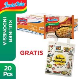 1 Dus isi 20 Pcs - Indomie Goreng Cakalang + Free Tote Bag