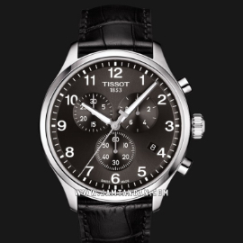 TISSOT Chrono XL Classic T116.617.16.057.00 Black Dial Black Leather Strap