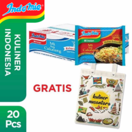 [App Only] 1 Dus isi 20 Pcs - Indomie Kuah Cakalang + Free Tote Bag