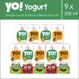 Heavenly Blush YO Banana Berries Broccoli Dan Mango Carrot 9 Pcs 200ml