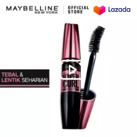 Maybelline Volum Express Hypercurl Mascara MakeUp - Black [ Maskara Tahan Air - Hitam ]