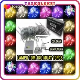 TK - E002 Lampu Tumblr 10 Meter LED Natal Murah Grosir Tumbler Light Import Hias Dekor Twinkle tidur outdoor dinding Packing Box Merek INFy