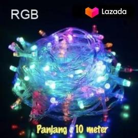 COD Lampu Tumblr Hias LED 10 Meter + Free Colokan Sambungan Kabel