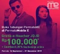 Buka Tabungan PermataME, Gratis e-Voucher dan Cashback di JDID