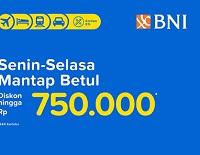 Diskon Tiket Kereta di Tiketcom dengan Kartu Kredit BNI
