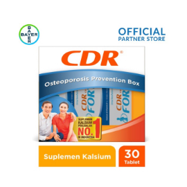 Osteoporosis Prevention Box (CDR Fortos Rasa Jeruk 10 Tablet x 3 Unit)