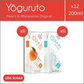 Heavenly Blush Yoguruto Peach dan Wholesome Original [12 Pcs x 200ml]