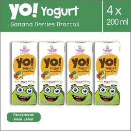 Heavenly Blush Yogurt Yo! Banana Berries Broccoli [4 Pcs x 200ml]