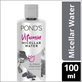 PONDS VITAMIN MICELLAR WATER (MAKEUP REMOVER) D-TOXX* CHARCOAL 100ML