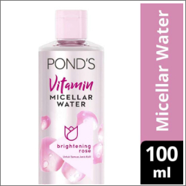 PONDS VITAMIN MICELLAR WATER (MAKEUP REMOVER) BRIGHTENING ROSE 100ML