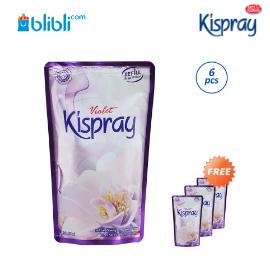 Kispray Violet Pelembut dan Pelicin Pakaian [Refill Pouch/Buy 6 Free 3]
