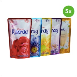 Kispray Refill Pouch 300ml Starter Pack - Semua Varian (5pcs)