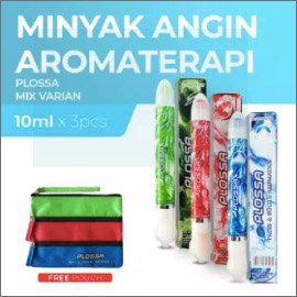 Plossa Minyak Angin Aromatherapy 4in1 - Varian Lengkap FREE Pouch