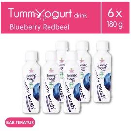Heavenly Blush Tummy Yogurt Drink Bluberry Redbeet [6Px180ml]