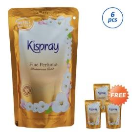 Kispray Glamorous Gold Pelembut dan Pelicin Pakaian [Refill Pouch/Buy 6 Free 3]