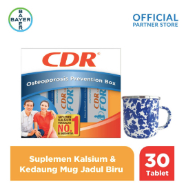CDR X Kedaung Osteoporosis Box (Fortos 30 Tablet) & Mug Jadul Biru