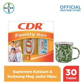 CDR X Kedaung Family Pack (CDR 20 Tab, Fortos 10 Tab) & Mug Jadul Hijau