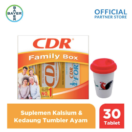 CDR X Kedaung Family Pack (CDR 20 Tab, Fortos 10 Tab) & Tumbler Ayam