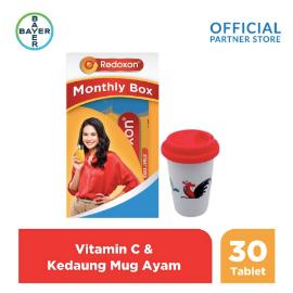 Redoxon X Kedaung Maudy Monthly Box (Redoxon 30 Tablet) & Tumbler Ayam