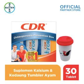 CDR X Kedaung Osteoporosis Box (Fortos 30 Tablet) & Tumbler Ayam