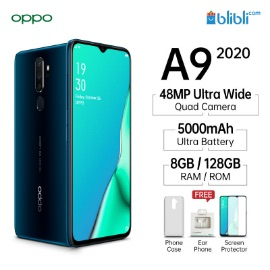 Oppo A9 (2020) (Marine Green, 128 GB)